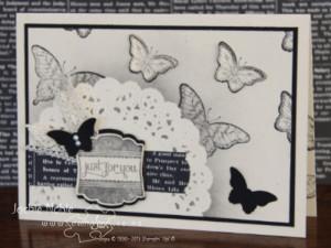 creativeJax - Doilie Masking. Papillon Potpourri, Label Love. Bitty Butterfly punch