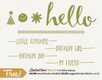 Hello - SAB stamp set