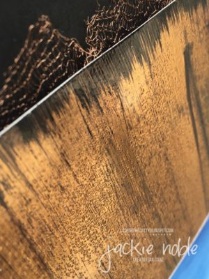 Copper Passion - 12x12 scrapbook page close up of Black Ice