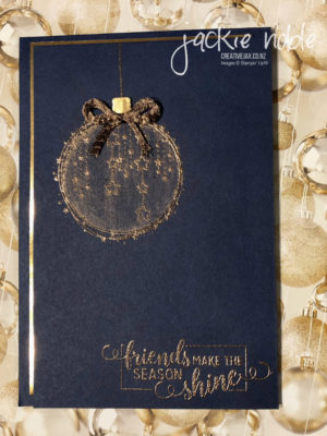 Night of Navy Coppery Christmas Card