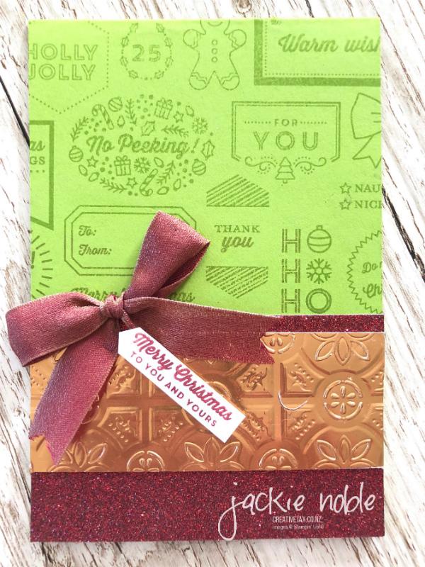 Holiday Catalogue swap Tag & Tidings