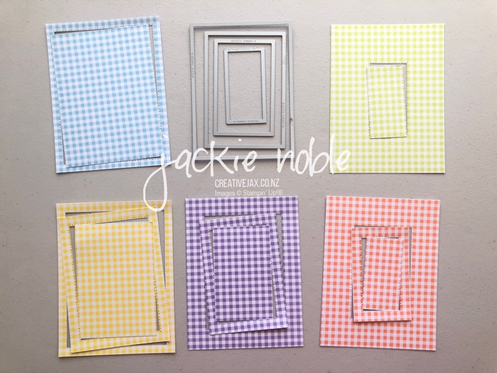 Gingham Gala and Stitched Rectangles