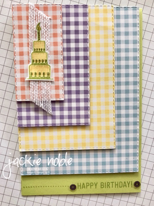 Gingham Gala Rectangle Stitched Framelits