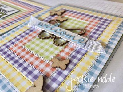 Gingham Gala Rectangle Stitched Framelits