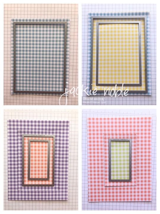 Gingham Gala and Rectangle Framelits