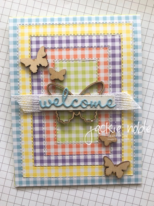 Gingham Gala Stitched Rectangles
