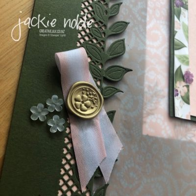 Floral Romance Scrapbook layout