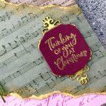 Pressed Petal Christmas Card