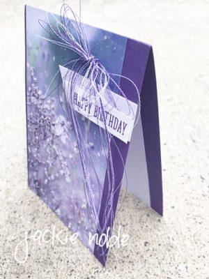 Gorgeous Grape Feels Like Frost Birthday Card