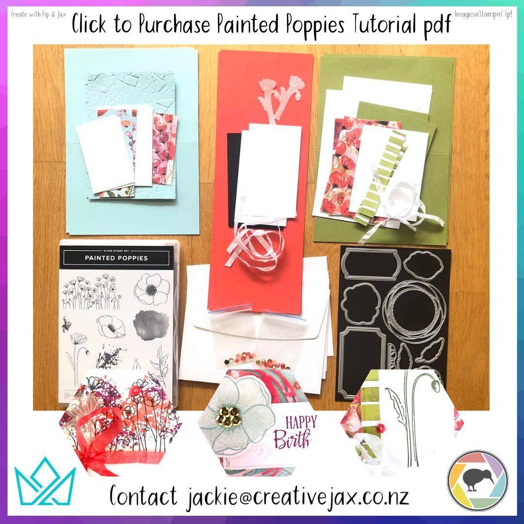 Click Order the Creative with Pip & Jax Painted Poppies Tutorial via PayPal