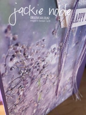 Gorgeous Grape Feels Like Frost Birthday Card